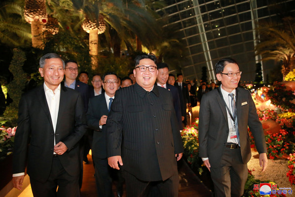 North Korea's leader Kim Jong Un, accompanied by Singapore's Foreign Minister Vivian Balakrishnan, visits Singapore